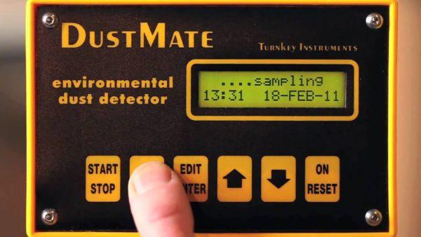 Анализатор пыли Dustmate в работе