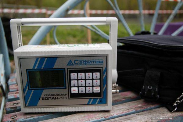 Газоанализатор «Геолан-1П» в работе