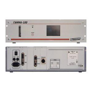 ГАММА-100 - многофункциональный газоанализатор многокомпонентных смесей (двухканальный) вид спереди и сзади.
