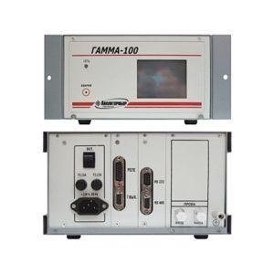 ГАММА-100 - многофункциональный газоанализатор многокомпонентных смесей (одноканальный) вид спереди и сзади.