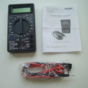 Мультиметр «РЕСАНТА DT830B» - комплектация.